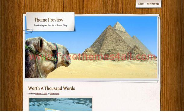 Desert Travel Wordpress Theme