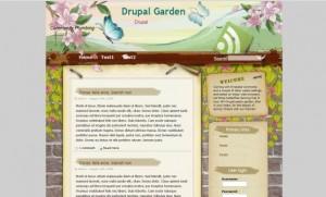 Grunge Flowers Floral Drupal Theme