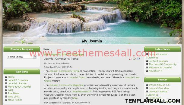 Tropical Forest Green Joomla Template