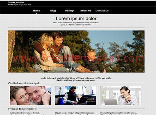 Free Family Gray CSS Jquery Web Template