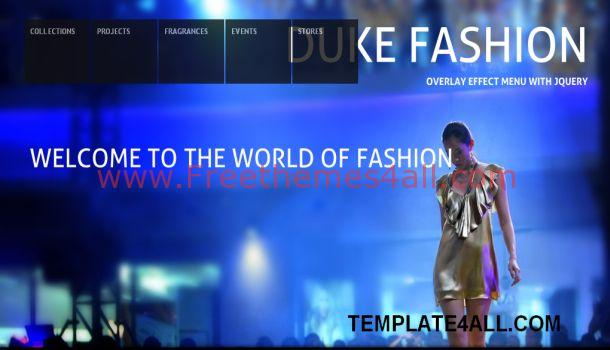 Fashion Blue Jquery Website Template