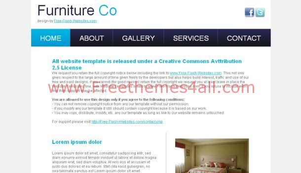 Interior Furniture Design CSS Template