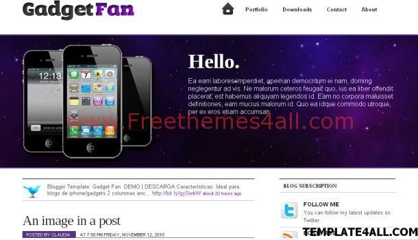 Ipod Iphone Gadgets Blogger Template