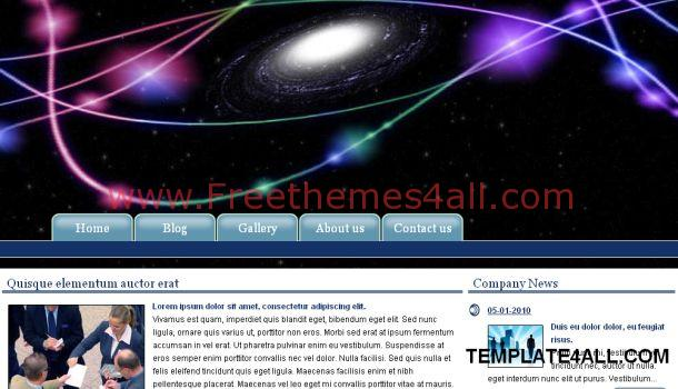 Galaxy Blue Black CSS Web Template