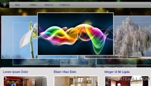 Free Sparks jQuery Gallery CSS Template