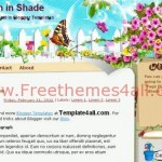 Free Garden Flowers Blogger Template