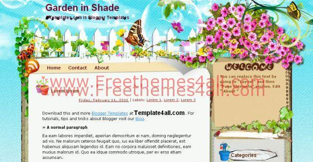 Garden Flowers Blogger Template