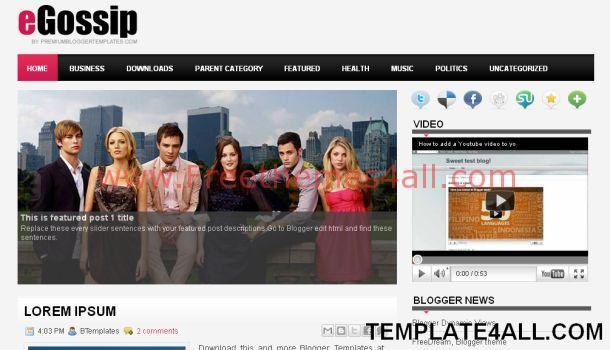 Magazine 3 Wordpress Theme - Celebrity Gossip [REQ] - Free ...