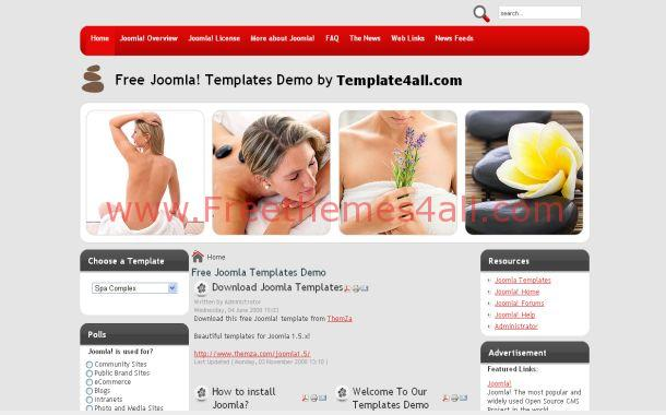 Red Relaxing Spa Joomla Theme