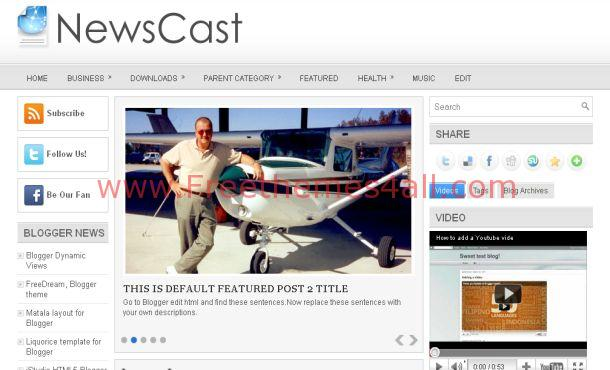 Free Magazine Silver Gray Blogger Template