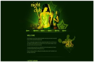 Night Club Green Music CSS Template
