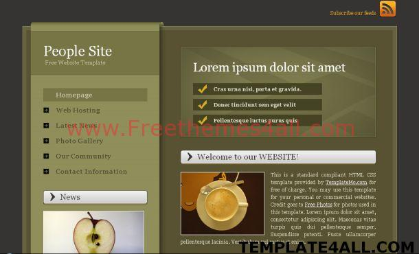 Free CSS Brown Portfolio Website Template