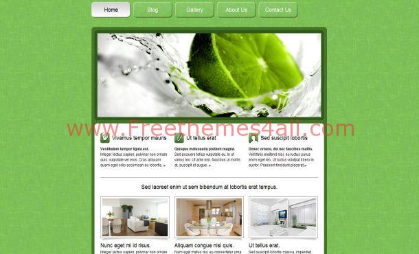 Free Green Lime Nature CSS Website Template