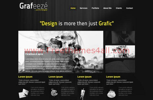 Free Dark Abstract Business Joomla Theme Template