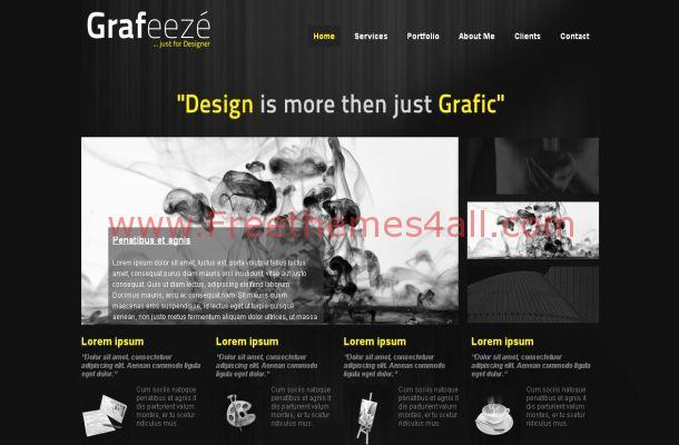 Free Dark Abstract Business Joomla Theme Template
