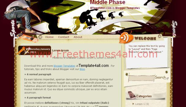 Middle Phase Vector Blogger Template