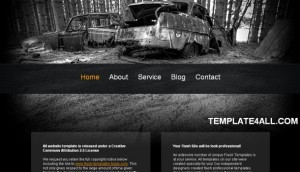 Web 2.0 Black Old Car Website Template
