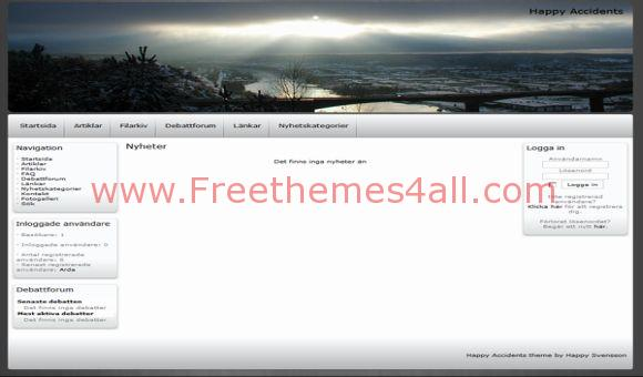 Free Silver Nature Phpfusion Theme