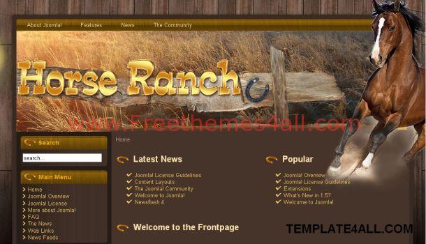 Brown Horses Jomla Flash Template