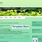 Free Green Nature Forest Blogger Template