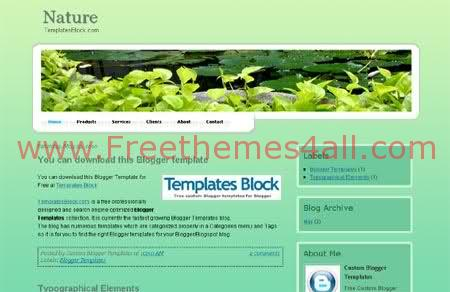 Green Nature Forest Blogger Template