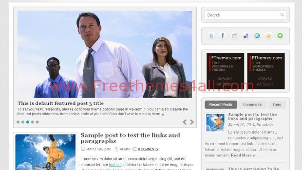 Business Corporation Free Wordpress Theme