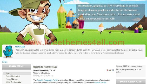 Free Company Portfolio Joomla Template