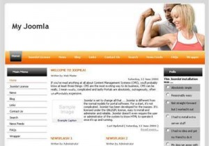 Free Sports Orange Fitness Joomla Theme
