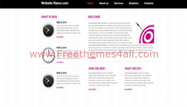 Jquery Pink Blog CSS Template