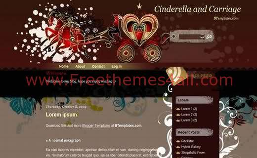 Free Love Africa Vector Web2.0 Blogger Template