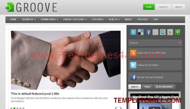 Free Business Magazine Blogger Template