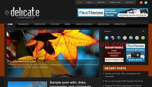 Delicate Magazine WordPress Premium Theme