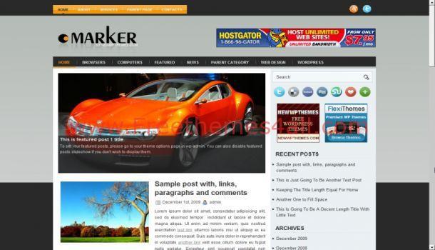 Free Gray News Magazine WordPress Theme