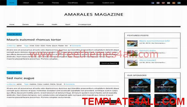 Black White Magazine WordPress Theme