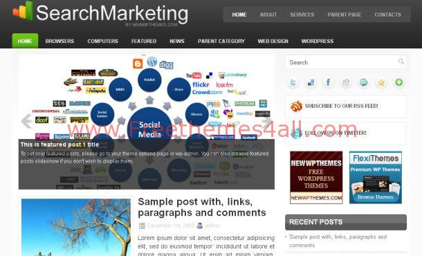 Search Engines Business WordPress Theme