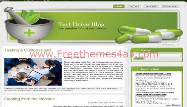 Green Health Pharmacy Wordpress Theme