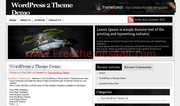Free Metal Black Magazine WordPress Theme