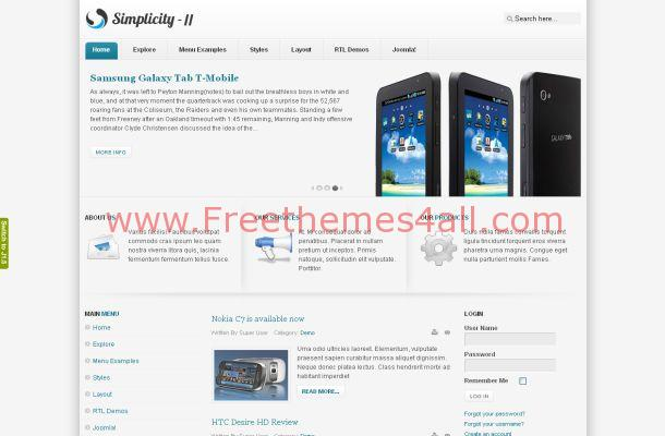 Iphone Mobiles News Free Joomla Theme Template