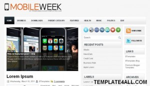 Mobiles Magazine Blogger Template