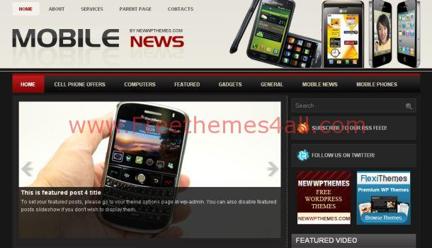 Iphone Mobiles Magazine Wordpress Theme
