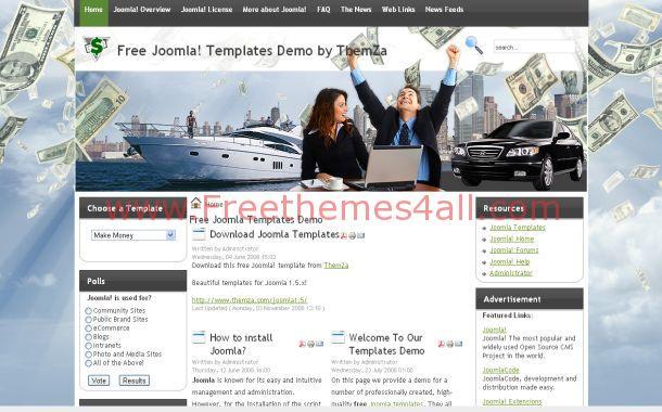 Finance Business Free Joomla 1.5 Theme Template