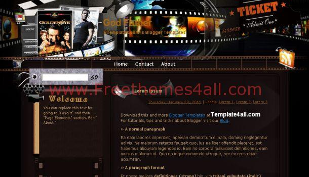 GodFather Movies Free Blogger Template