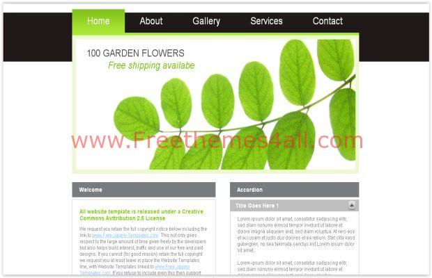 Free Green Black Jquery CSS Template