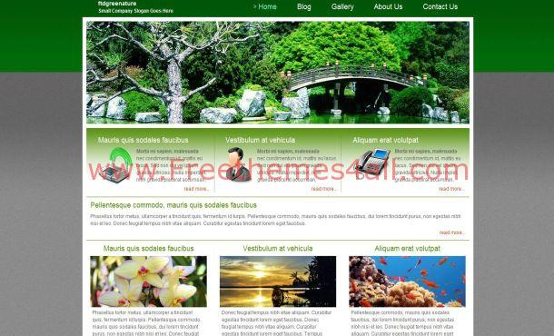 Free Forest Green Jquery Website Template