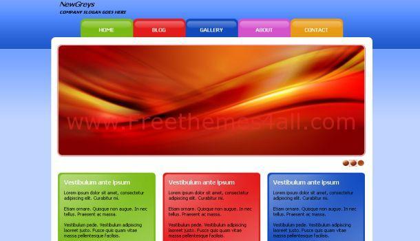 NewsGreys Business CSS Website Template