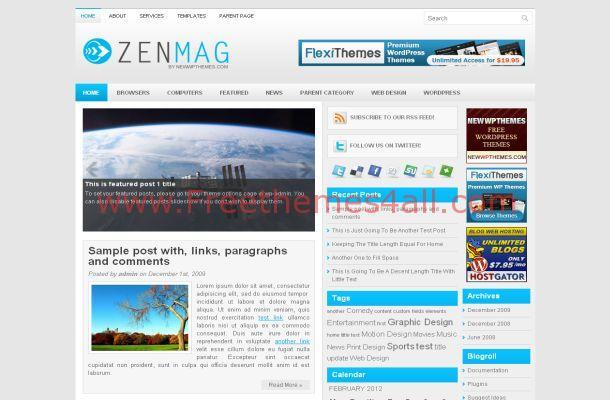 Blue News Blog Wordpress Theme Download
