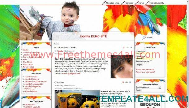 Free Painting School Joomla 1.5 Template