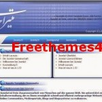 Free Blue Persian Portal Joomla Theme