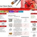 Shop Red Zen Cart Template
