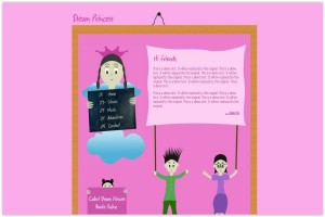 Grunge Pink Childs Kids CSS Template